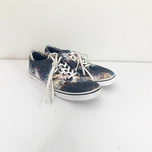 Vans Galaxy Print Low Top Lace-Up Sneakers 6